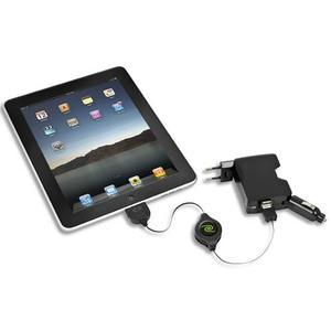 retrak chargeur ipad iphone ipod retractable 4en1 secteur voiture usb et 2 usb euipad41. Black Bedroom Furniture Sets. Home Design Ideas