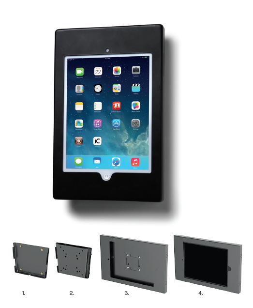 support de tablette mural fixe. Black Bedroom Furniture Sets. Home Design Ideas