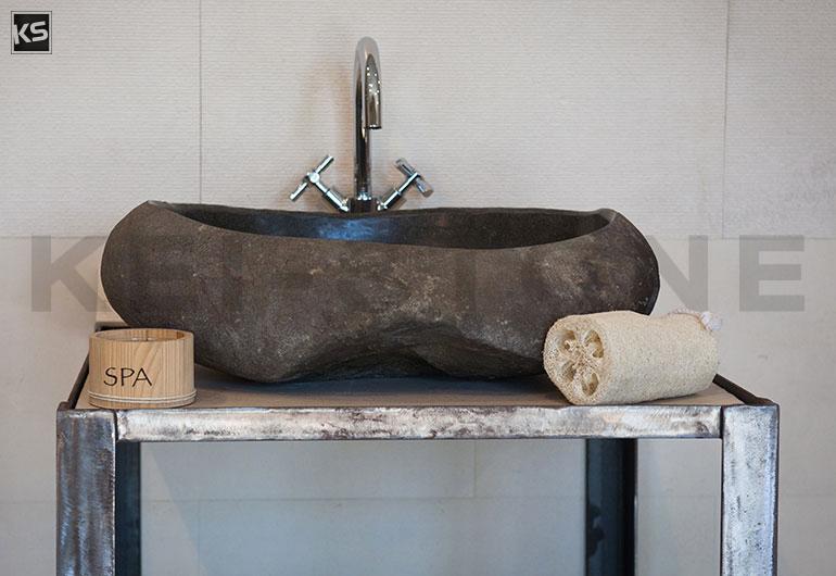 vasque galet de bali. Black Bedroom Furniture Sets. Home Design Ideas