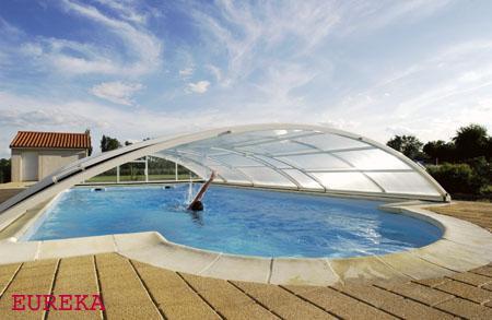 Abris de piscine cintres bas ariane for Abri piscine eureka