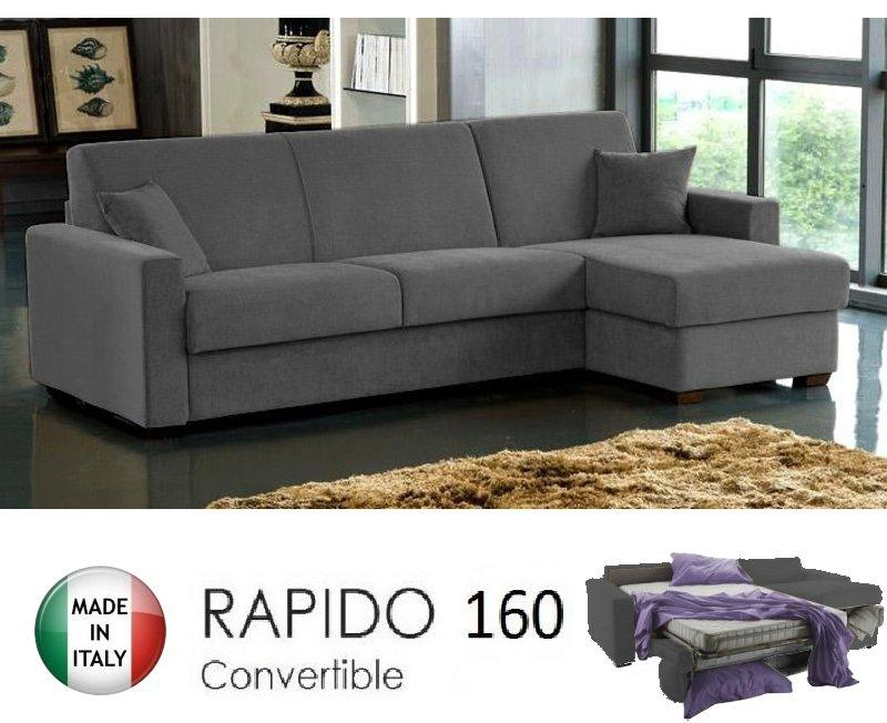 Canape d 39 angle ouverture rapido dreamer convertible lit for Canape d angle convertible couchage quotidien