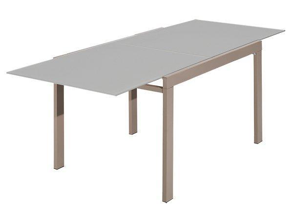 Galaxy table repas extensible rectangulaire verre taupe comparer les prix de galaxy table repas - Table rectangulaire extensible ...