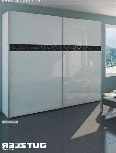 dressing portes coulissantes en verre laque blanc. Black Bedroom Furniture Sets. Home Design Ideas