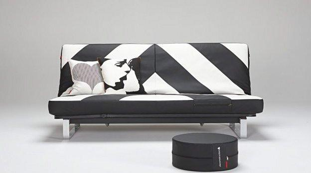canape lit design minimum noir et blanc innovation clic clac convertible 200 140. Black Bedroom Furniture Sets. Home Design Ideas
