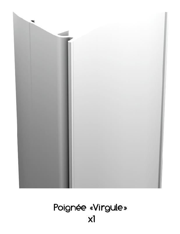 poign e virgule r glable en aluminium laqu blanc ral 9016 de 2 8 m wimove. Black Bedroom Furniture Sets. Home Design Ideas