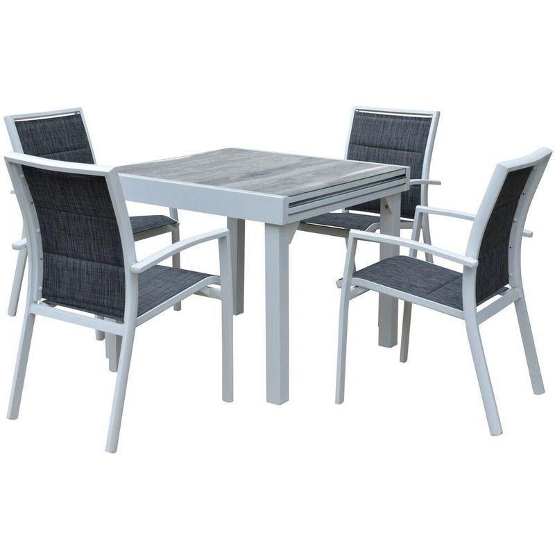 TABLE ET CHAISES DE JARDIN MODERNE BALI 4 CHAISES 6 FAUTEUILS - WILSA GARDEN
