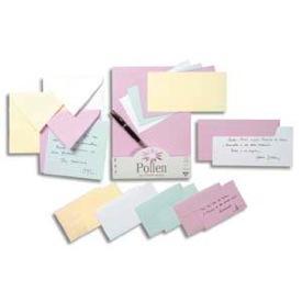 20 Enveloppes Pour Cartes De Visite 90 X 140 Mm Blanches Pollen