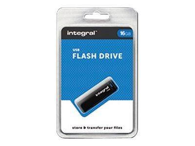 INTEGRAL - CLÉ USB - 16 GO - USB 2.0 - NOIR