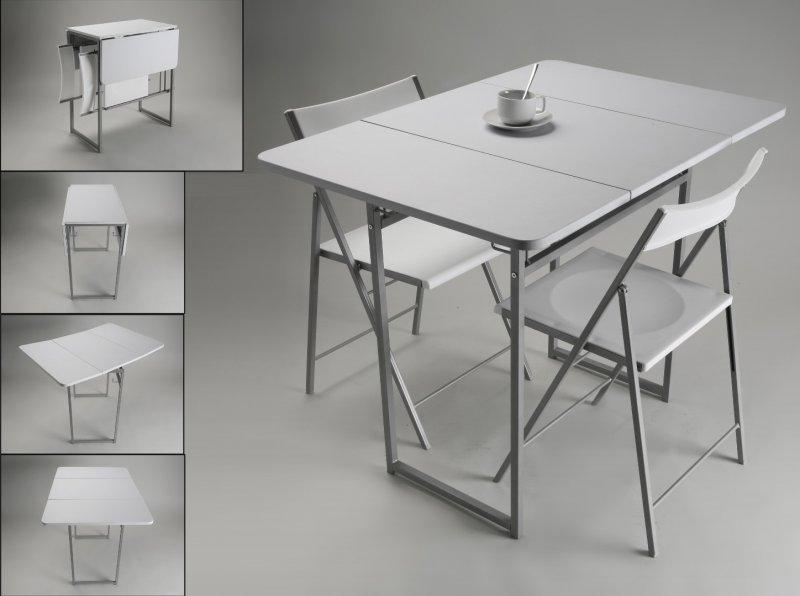 Standup table extensible en bois avec 2 chaises avec rangement tout en un pour 2 personnes - Table extensible chaises ...