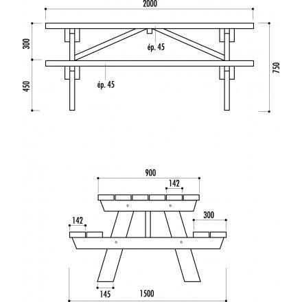 Best Table De Jardin En Bois Plan Ideas - House Design - marcomilone.com