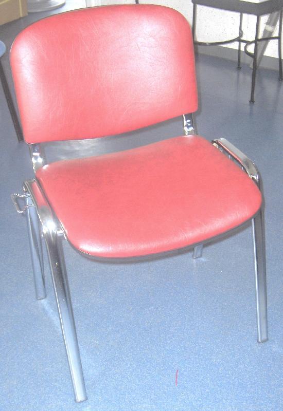 Chaise de reunion jess tissu enduit m2