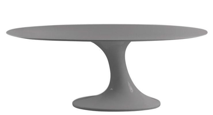 Meuble Tv Ovale : Table Repas Ovale, Design Tulipe LaquÉ Gris