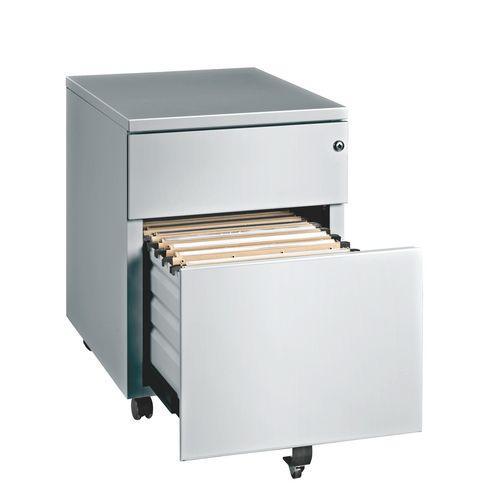 Caissons mobiles m tal 2 tiroirs pour bureau manager for Meuble bureau bruneau