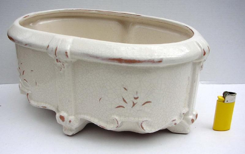 Jardiniere versailles haute poterie emaillee for Jardiniere etroite et haute