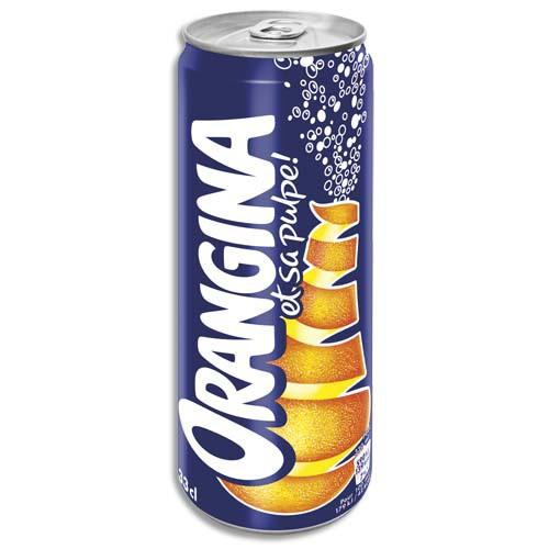 ORANGINA CANETTE DE BOISSON GAZEUSE PÉTILLANTE À L'ORANGE DE 33 CL