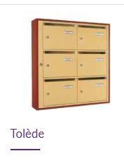Boîtes aux lettres collectives tolède   intérieure Produit neuf 57ead99a2540