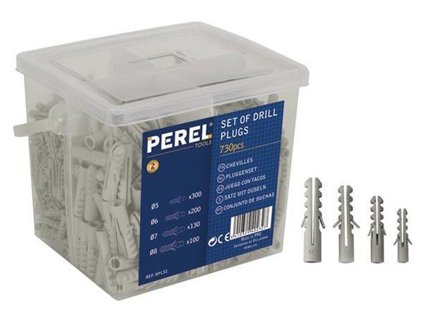 JEU DE CHEVILLES EN NYLON - 5-6-7-8MM - 730 PCS (HPLS1)