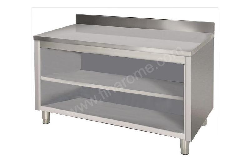 Plan de travail en inox pour cuisine placard inox ouvert for Placard cuisine inox