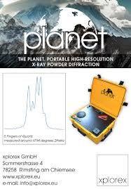 Xrd portable planet, diffractomètre des rayons x a haute résolution