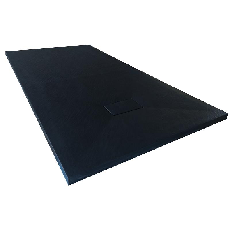 Receveur de douche 80 x 80 cm extra plat piatto en solicast surface ardois e carr noir - Receveur de douche 70x100 ...