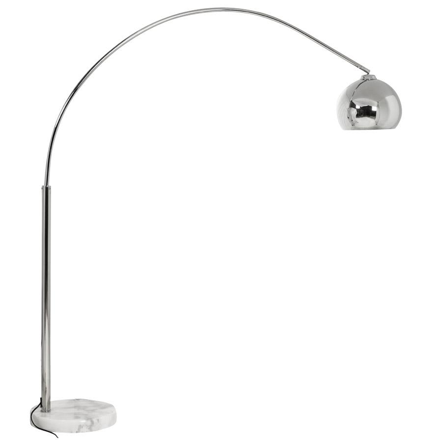 lampadaire design en arc 39 big bow small 39 abat jour chrom comparer les prix de lampadaire design. Black Bedroom Furniture Sets. Home Design Ideas