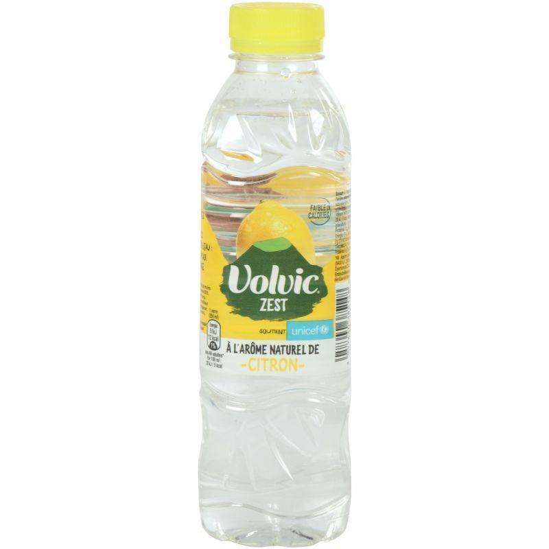 Lot de 24 bouteilles 50cl volvic citron