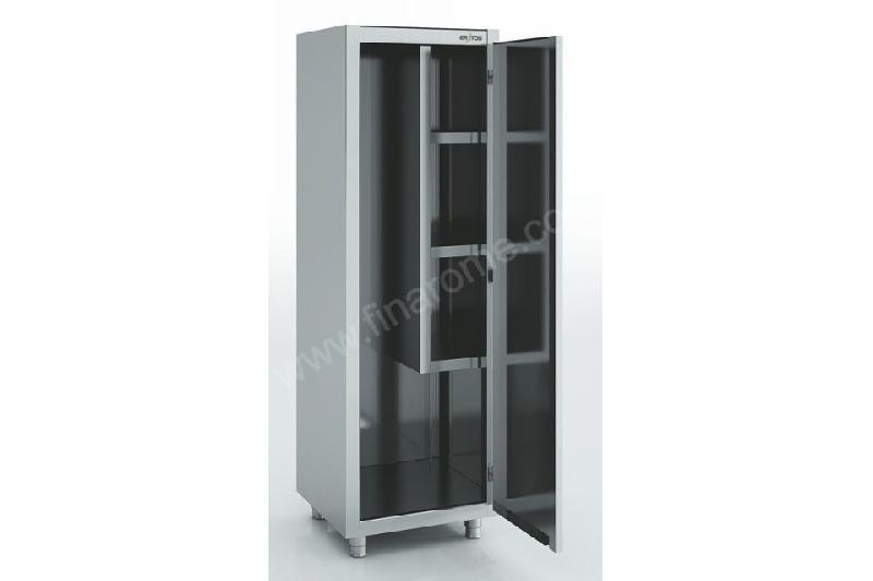 armoire d 39 entretien et balais en inox 2 portes 1000 x 450 mm eratos comparer les prix de armoire. Black Bedroom Furniture Sets. Home Design Ideas