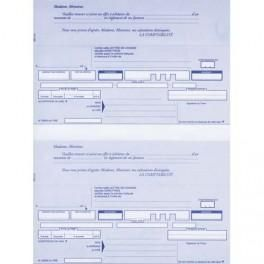 ELVE PAQUET DE 200 LETTRES DE CHANGE A4 100F 2 TRAITES PRÉDÉCOUPÉES + BORDEREAUX PRÉ-IMPRIMÉ