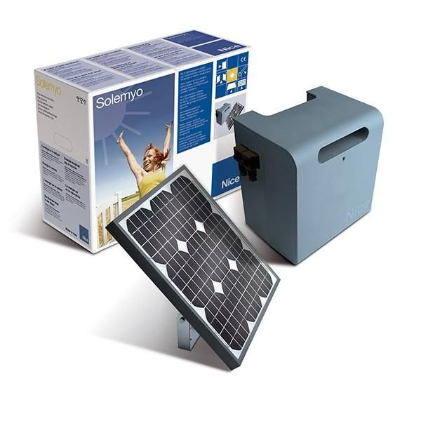 kit d 39 alimentation solaire solemyo nice pour automatisme panneau caisson sykce comparer. Black Bedroom Furniture Sets. Home Design Ideas