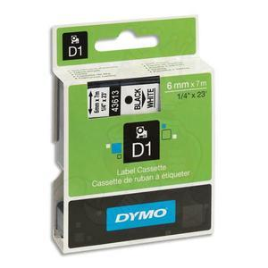 DYM RUBN DYMO D1 6MMX7M N/BLC 43613