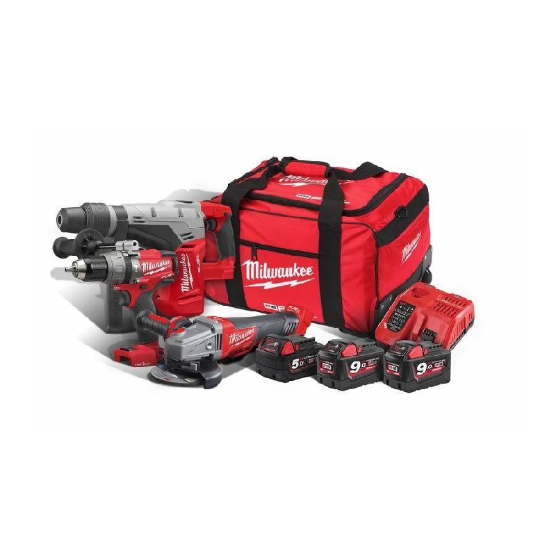 POWERPACK MILWAUKEE 18V M18 SET3A-953B CHM-0+CAG125XPDB+ONEPD-0 - 4933459362