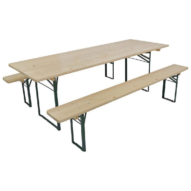 BANC BRASSERIE EN BOIS 4-5 PERSONNES (TABLE NON COMPRISE)