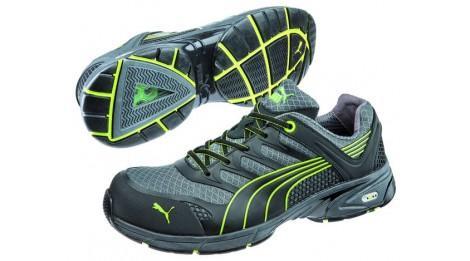 Chaussure de sécurité puma fuse motion green men low s1p hro