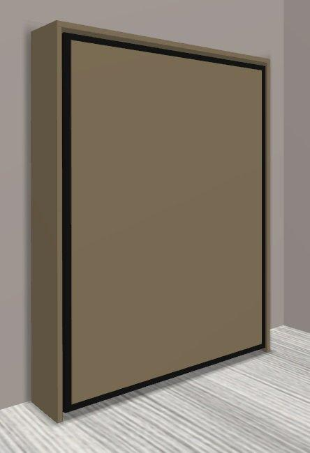 armoire lit escamotable cronos taupe mat couchage 140 22 200 cm. Black Bedroom Furniture Sets. Home Design Ideas