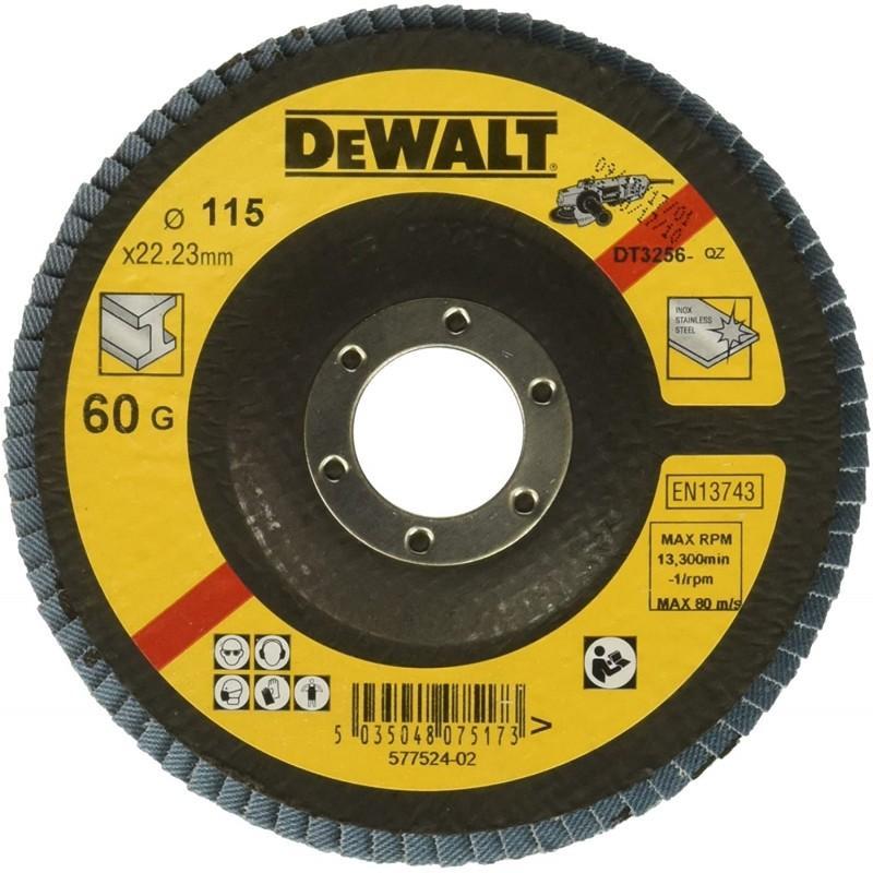 Dewalt dt3256-qz disque a lamelles grain 60 ø 115mm 22.2