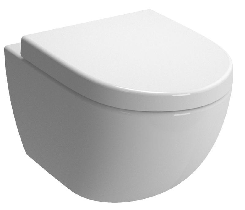 pack wc suspendu daily o2 avec abattant frein de chute declipsable