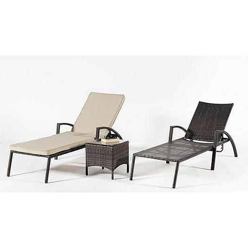 chaise longue r sine tress e main avec coussin beige fonc denia 12 indoor outdoor comparer. Black Bedroom Furniture Sets. Home Design Ideas
