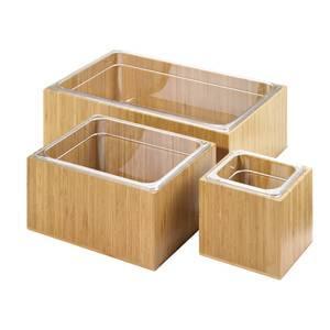 etagere a bacs en plastique materiau bambou massif plastique gn 1 2 x h 15 2 cm. Black Bedroom Furniture Sets. Home Design Ideas