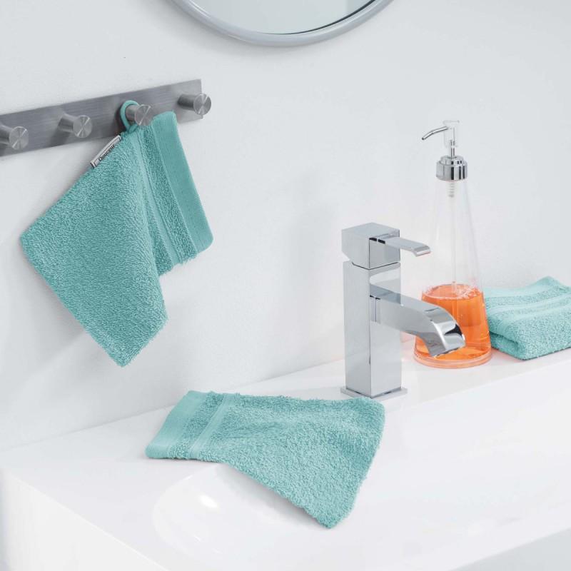 Lot de 2 gants de toilette vitamine 15x21cm menthe - paris prix