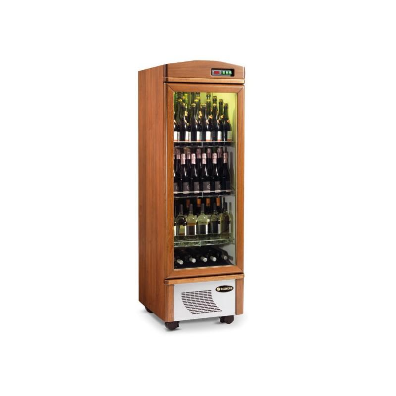 cave vin en bois porte vitr e 95 bouteilles scaiola. Black Bedroom Furniture Sets. Home Design Ideas