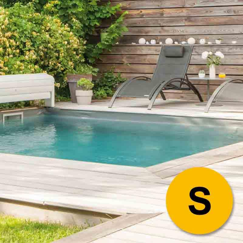 Kit piscine bloc 1er prix s 6x3m sable for Prix sable piscine
