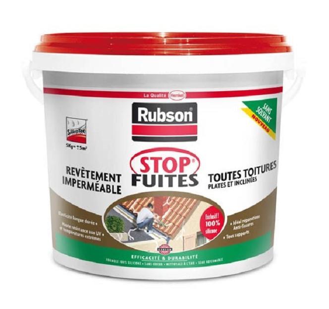 RUBSON STOP FUITES TOITURES ROUGE 5KG