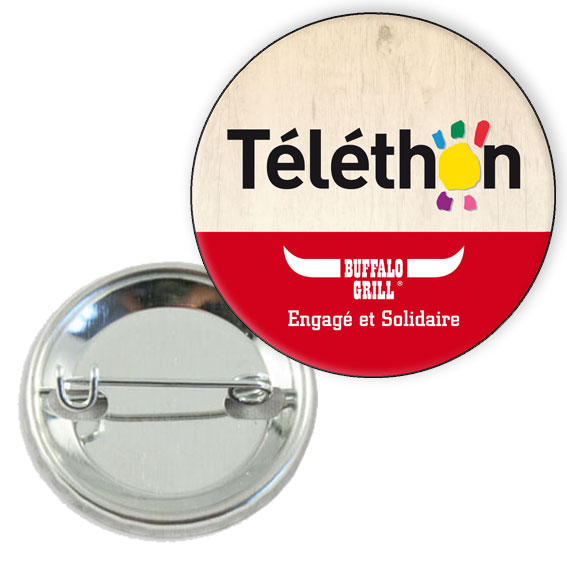Extrêmement Badge professionnel personnalise 45mm - epingle - a votre image BV74