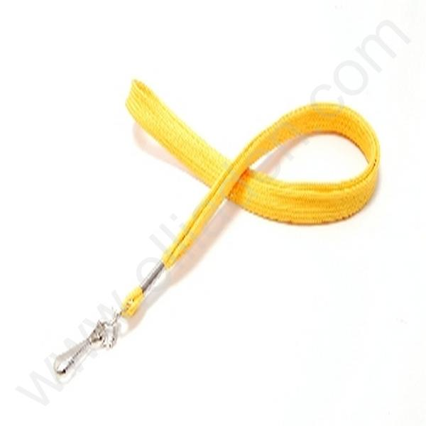 CORDON JAUNE 10MM MOUSQUETON