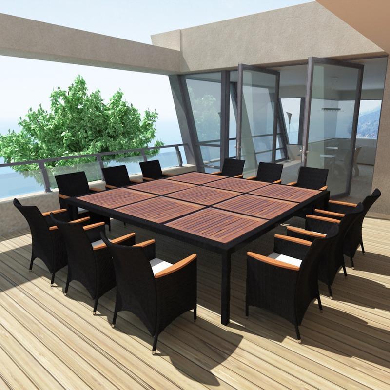salon de jardin vidaxl achat vente de salon de jardin vidaxl comparez les prix sur. Black Bedroom Furniture Sets. Home Design Ideas
