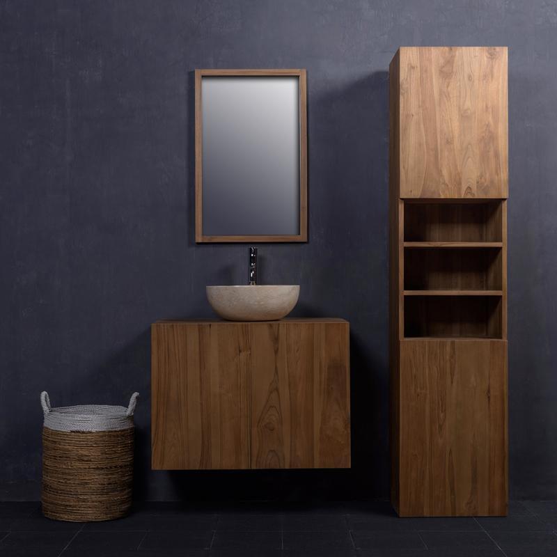 Mobiliers de salle de bain bois dessus bois dessous for Meuble vasque colonne