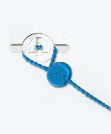 Scellé de sécurité à pince unisto p10 s9 - plomb plastique