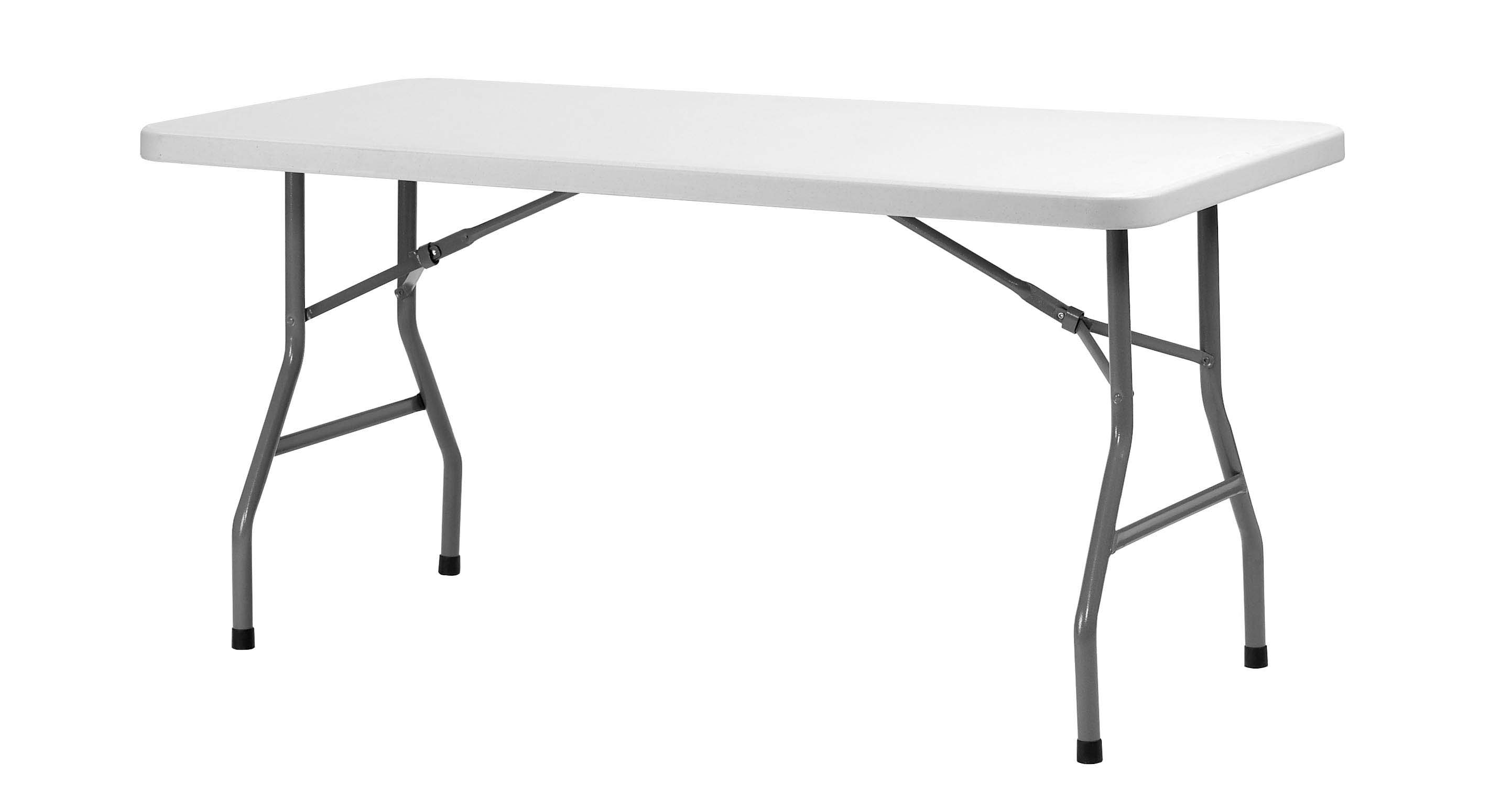 Table pliante rectangulaire hdpe 182x76cm comparer les for Grande table pliante ikea
