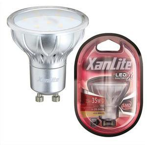 xanlite ampoule a leds culot gu10 280 lumens puissance 3 8 watts. Black Bedroom Furniture Sets. Home Design Ideas