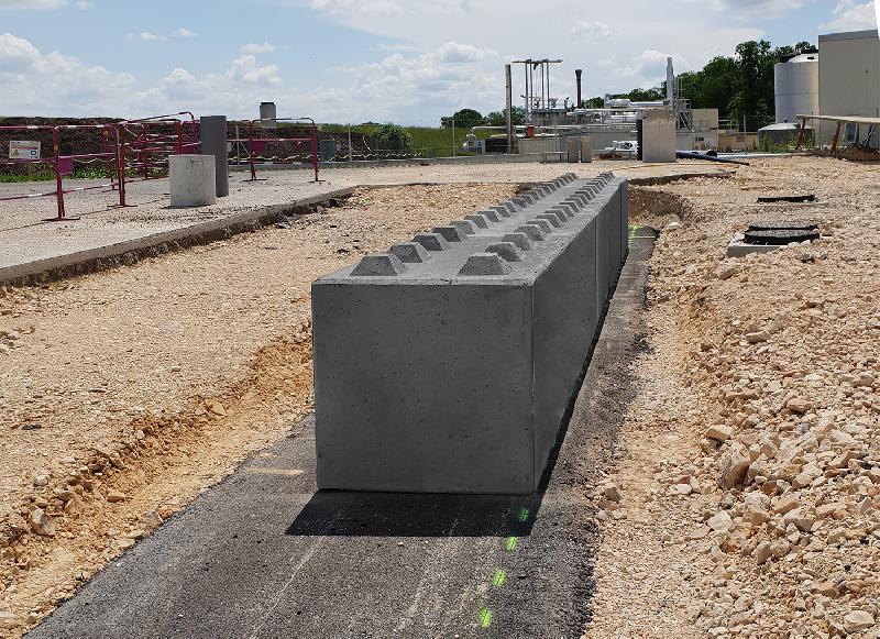 Mur de soutènement en bloc béton